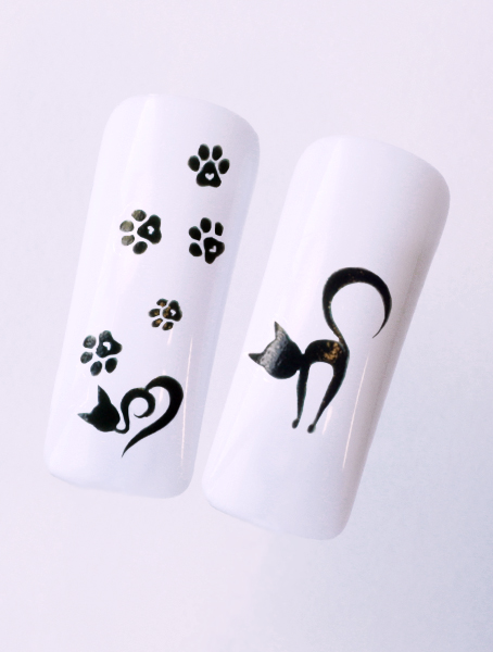 Water decals, nail stickers N 1136 p image