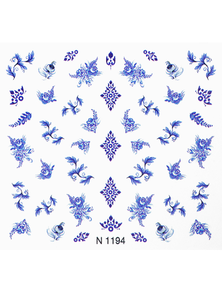 Water decals, nail stickers N 1194 image