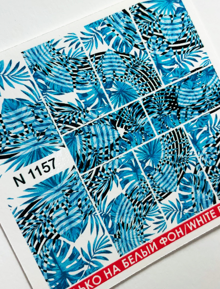 Water decals, nail stickers N 1157