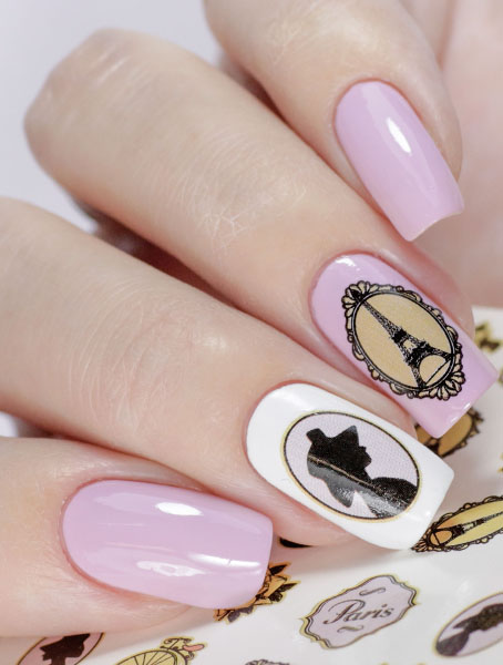Water decals, nail stickers N 1006 p image