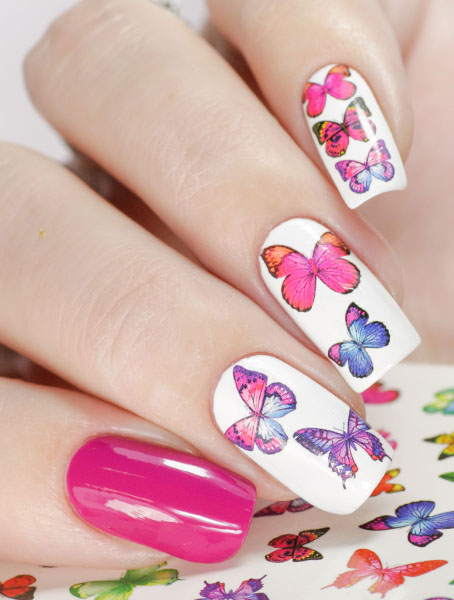 Water decals, nail stickers N 1007 p image