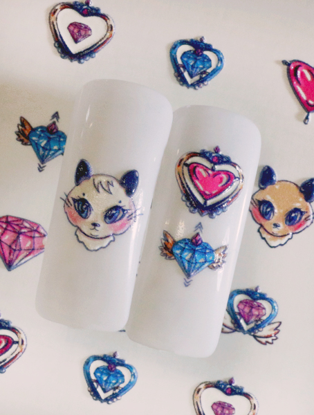 Water decals, nail stickers 3D-слайдер B126 image
