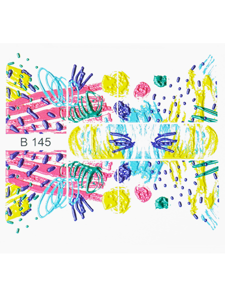 Water decals, nail stickers 3D-слайдер B145