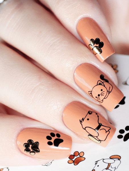 Water decals, nail stickers J 226 image