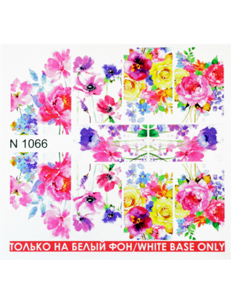 Water decals, nail stickers N 1066